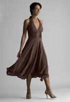 Donna Ricco 8578416M Silk Halter Flutter Dress