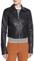 A.L.C. Allen Zip-Front Leather Jacket, Black