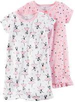 Carter's Toddler Girl 2-pk. Print Nightgowns