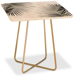 Deny Designs Mareike Boehmer Palm Leaves Square Side Table