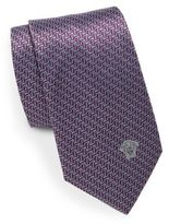Versace Notched Two-Tone Silk Tie