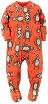 Carter's Toddler Boy Print Fleece Footed Pajamas