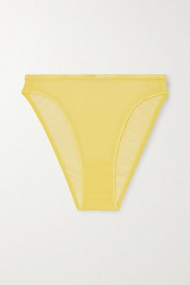 Cosabella Soire Confidence Mesh Briefs - Pastel yellow