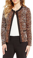 Preston & York Brenda Animal Print Ponte Jacket