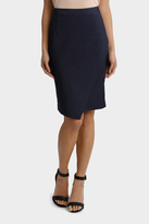 Basque Indigo Asymetrical Suit Skirt