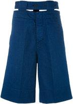 Marni belted denim shorts