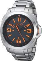 BOSS ORANGE Men's 1513099 BRISBANE Analog Display Quartz Silver Watch