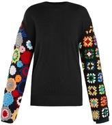 J.W.Anderson Crochet-sleeve wool sweater