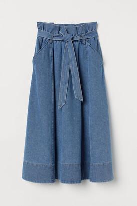 H&M A-line denim skirt