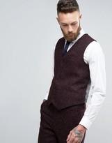 Asos Skinny Vest in Herringbone