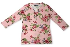 Karen Scott Plus Size Bali Bliss Henley Top, Created for Macy's