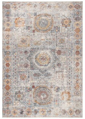 Bungalow Rose Smithey Oriental Light Gray/Brown Area Rug Rug Size: Rectangle 4' x 6'