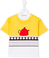 Marni tea pot print T-shirt - kids - Cotton - 4 yrs