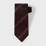 Paul Smith Men's Damson Musical Notes Stripe Silk Tie