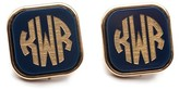 The Well Appointed House Vineyard Square Post Monogrammed Stud Earrings