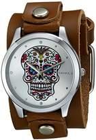 Nemesis Women's 925BGB-S Sugar Skull Series Analog Display Japanese Quartz Red Watch