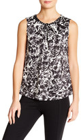 Nine West Pleated Neck Sleeveless Blouse