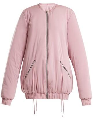 Charli Cohen - Bomber 2s Oversized Jersey Performance Jacket - Womens - Light Pink