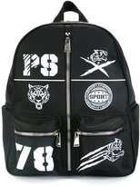 Plein Sport patch detail backpack