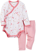 Angel Dear Moon & Stars Shortie & Legging Set (Baby Girls)