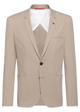 HUGO BOSS Extra-slim fit jacket in stretch cotton