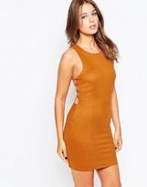 Club L Suedette Dress with Side Strap Detail