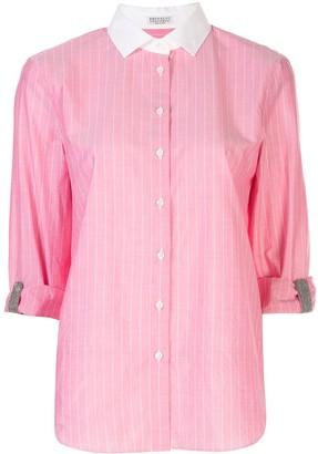 Brunello Cucinelli Tab Sleeve Shirt