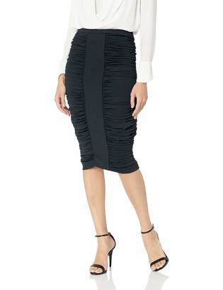 BCBGMAXAZRIA Women's Ruched Pencil Skirt