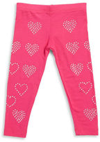 Design History Girls 2-6x Studded Heart Leggings
