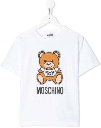 MOSCHINO BAMBINO short sleeve teddy logo T-shirt