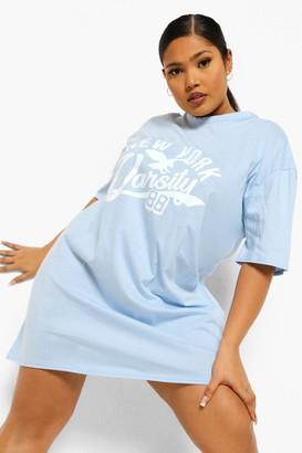 boohoo Plus New York Oversized T-shirt Dress