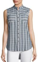 Derek Lam 10 Crosby Sleeveless Striped Shirt
