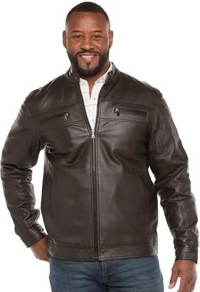 Big & Tall Vintage Leather Leather Racer Jacket