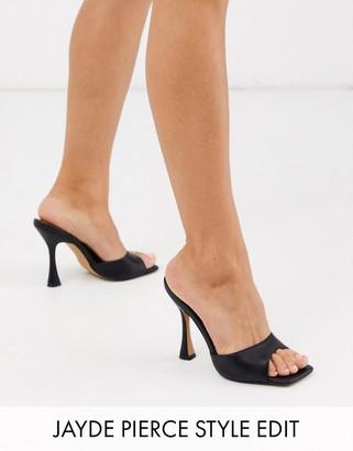 ASOS DESIGN Nero square toe mules in black