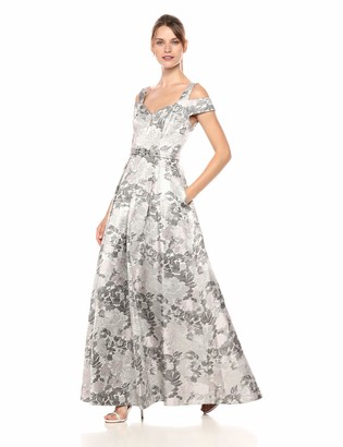 Brinker & Eliza Women's Off The Shoulder Fit and Flare Gown