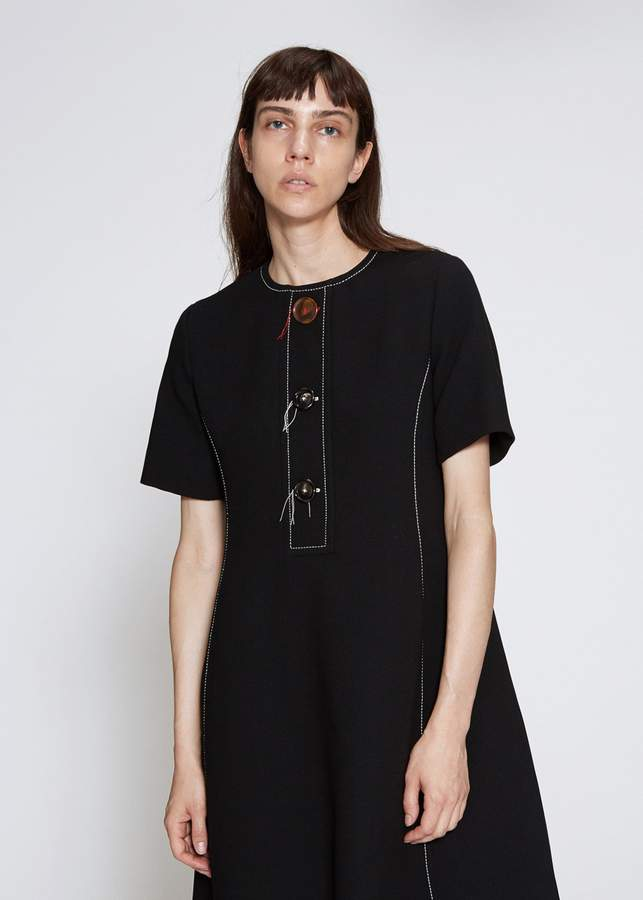 Marni Short Sleeve Button Dress