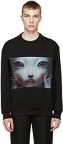 Juun.J Black Graphic Sweatshirt