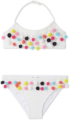 Stella Cove Kids' Multicolor Pom Two-Piece Swimsuit