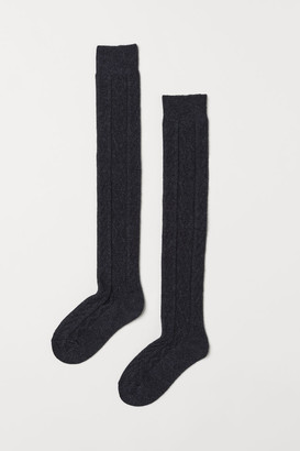 H&M Over-knee Socks - Black