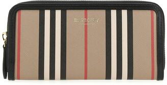 Burberry Icon Stripe Zip Around Wallet