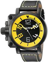 Haurex Italy Men's 6N508UYN Gun Analog Display Quartz Black Watch