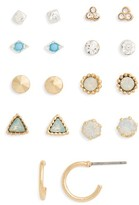 BP Women's 9-Pack Crystal Stud Earrings
