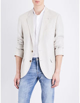 Brunello Cucinelli Regular-fit Herringbone Linen Jacket