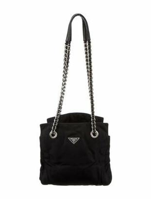 Prada Tessuto Chain-Link Shoulder Bag Nero