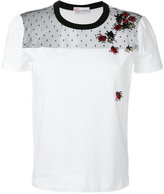 RED Valentino embroidered ladybug T-shirt