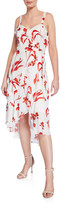 Parker Kathy Ruffled Sleeveless Floral Wrap Dress
