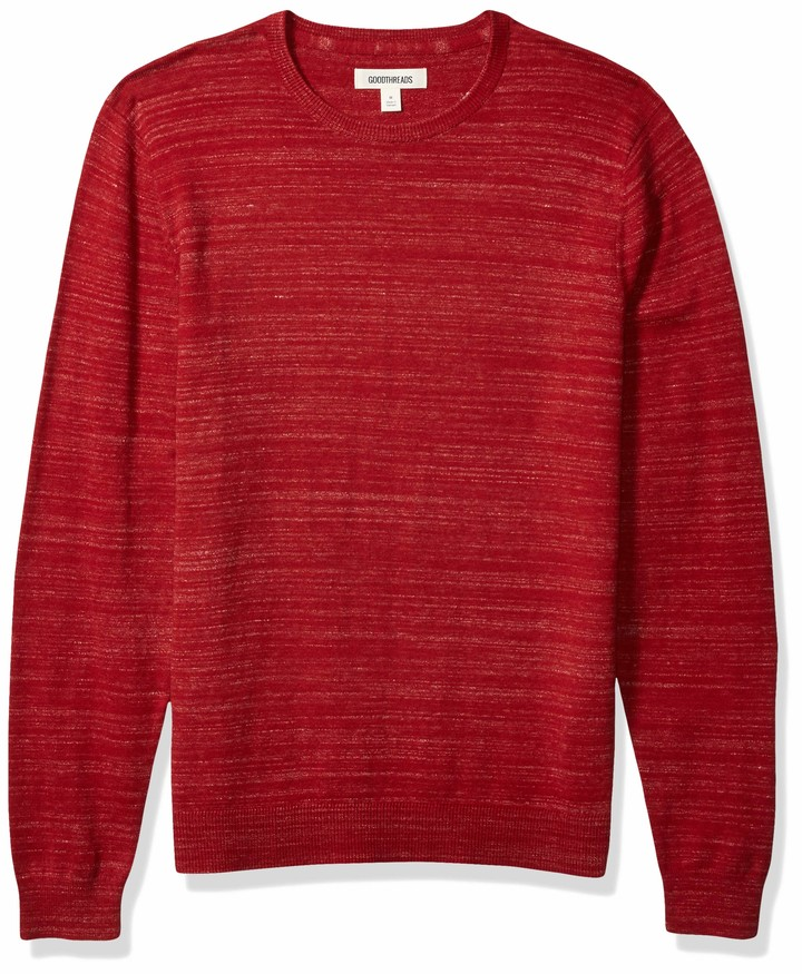 Goodthreads Mens Lightweight Merino Wool//Acrylic Bomber Sweater Brand