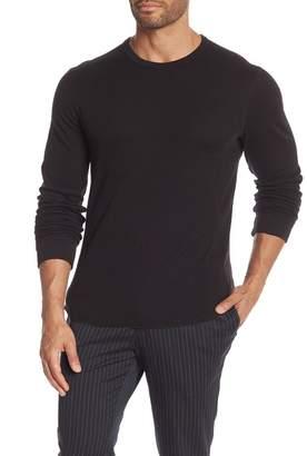 Vince Double Knit Slim Fit Long Sleeve T-Shirt