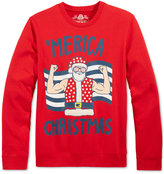 American Rag Men's Santa 'Merica Christmas Sweatshirt, Only at Macy's