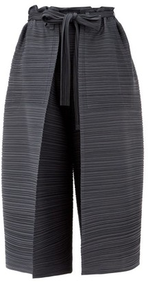 Pleats Please Issey Miyake Thicker Bounce Technical-pleated Culottes - Mid Grey